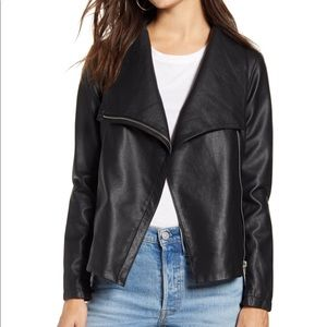 Very cute moto faux black jacket new with tags